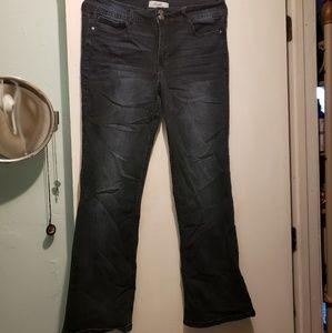 Dark boot cut jeans, worn once.